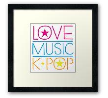LOVE MUSIC K-pop Framed Print