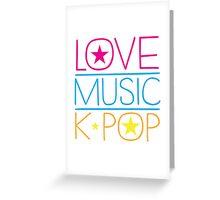 LOVE MUSIC K-pop Greeting Card