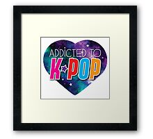Addicted to k-pop (with cute starry sky heart) Framed Print