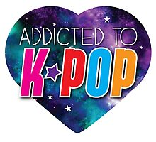 Addicted to k-pop (with cute starry sky heart) Photographic Print