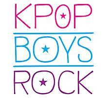 KPOP BOYS ROCK! Photographic Print