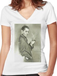 Robert Montgomery by MB Women's Fitted V-Neck T-Shirt