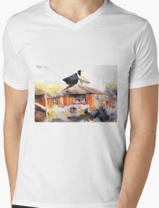 akwarelka 80 Mens V-Neck T-Shirt