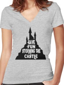 Have Fun Storming The Castle - The Princess Bride Women's Fitted V-Neck T-Shirt