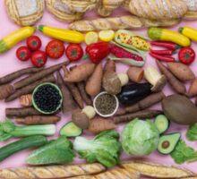 Hoorray For Veggie Burgers! Sticker