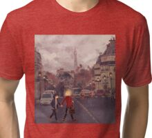 Paris in the rain Tri-blend T-Shirt