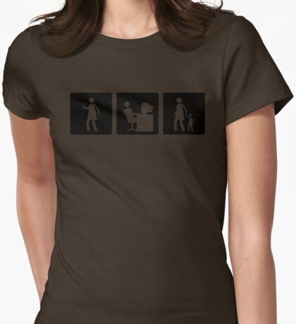 Three Little Pics - Women 5 Womens Fitted T-Shirt
