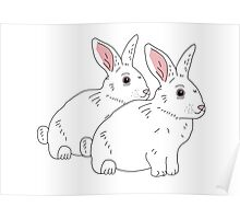 White Bunnies Poster