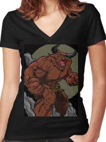 Le bette Du Labyrinth Women's Fitted V-Neck T-Shirt