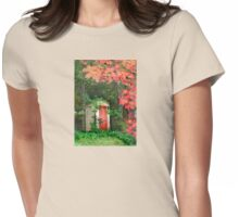 The Red Outhouse Door Womens Fitted T-Shirt