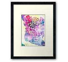 Shake a tail feather - lilac dreams Framed Print