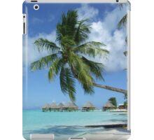 tahiti palm and bungalous iPad Case/Skin
