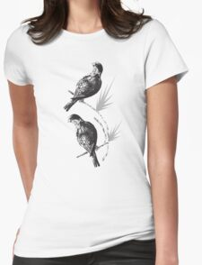Sunrise at the island with the Black Capped Lories 7 Womens Fitted T-Shirt
