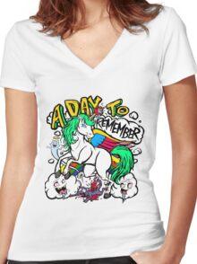 Hero Unicorn Women's Fitted V-Neck T-Shirt