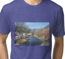 Old Cambrian Colliery Site Clydach Vale Tri-blend T-Shirt