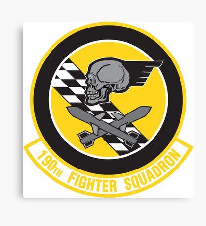 190th Fighter Squadron emblem Canvas Print