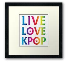 LIVE LOVE K-pop RAINBOW Framed Print