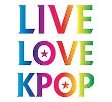 LIVE LOVE K-pop RAINBOW Photographic Print