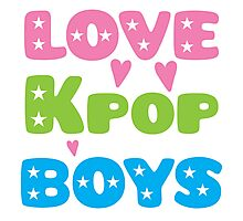 LOVE K-pop BOYS with stars Photographic Print