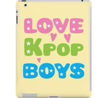 LOVE K-pop BOYS with stars iPad Case/Skin