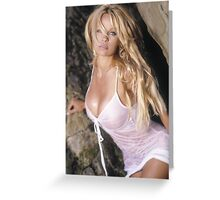 Pamela Anderson - John Brady photo shoot Greeting Card