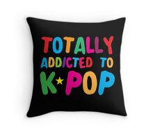 Totally addicted to K-pop in rainbow Throw Pillow