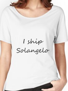 I ship Solangelo (Cursive) Women's Relaxed Fit T-Shirt