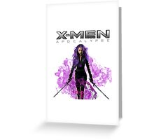 "x men apocalypse - ""Psylocke"" Greeting Card"