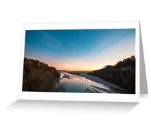Sunset on Tagliamento river Greeting Card