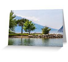 Bicycle at the Lake of Garda, italy Greeting Card