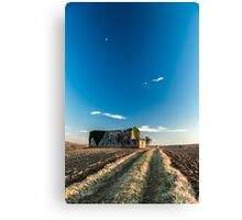 Abandoned farm in the countryside Canvas Print