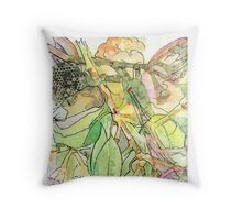 Fairy with Trumpet  Throw Pillow