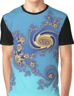 Fractal in Blue & Gold   Graphic T-Shirt