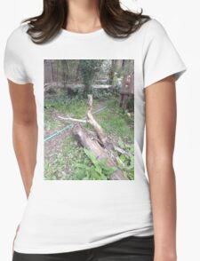 The Tall Log Caressed His Fallen Log Friend Womens Fitted T-Shirt