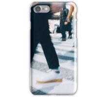 Blurred Legs of People Crossing Shibuya Crossing in Tokyo iPhone Case/Skin