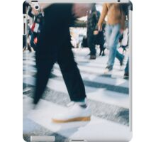 Blurred Legs of People Crossing Shibuya Crossing in Tokyo iPad Case/Skin