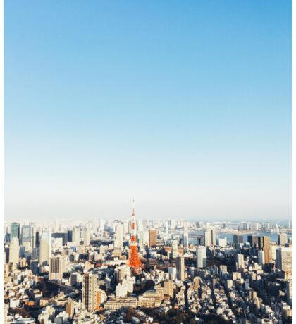 Panoramic Tokyo Cityscape With Tokyo Tower Sticker