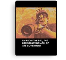 """Louis Theroux """"IM FROM THE BBC"""" Canvas Print"""