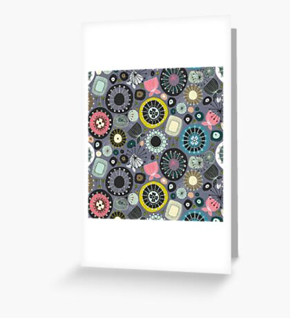 blooms amethyst Greeting Card