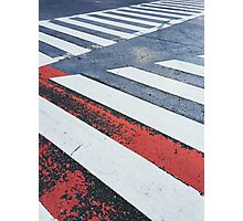 Japan - Zebra Crossing in Tokyo Photographic Print