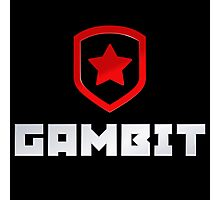 Gambit logo (with text) Photographic Print