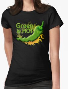 Green is HOT Womens Fitted T-Shirt