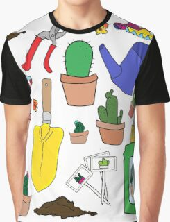 The Cactus Lover Package Graphic T-Shirt