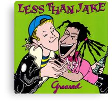 LESS THAN JAKE GREEN GREASED Canvas Print