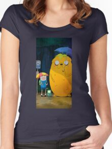 adventure time totoro Women's Fitted Scoop T-Shirt