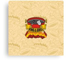 King of the Grill Canvas Print