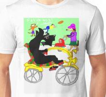 Clive Scotty On A Bike Unisex T-Shirt