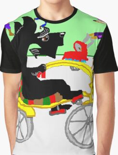 Clive Scotty On A Bike Graphic T-Shirt
