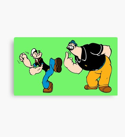 Popeye and Brutus Canvas Print