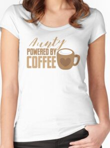 Aunty powered by COFFEE Women's Fitted Scoop T-Shirt